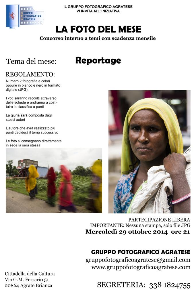 Layout Locandina Tema del mese Reportage 2