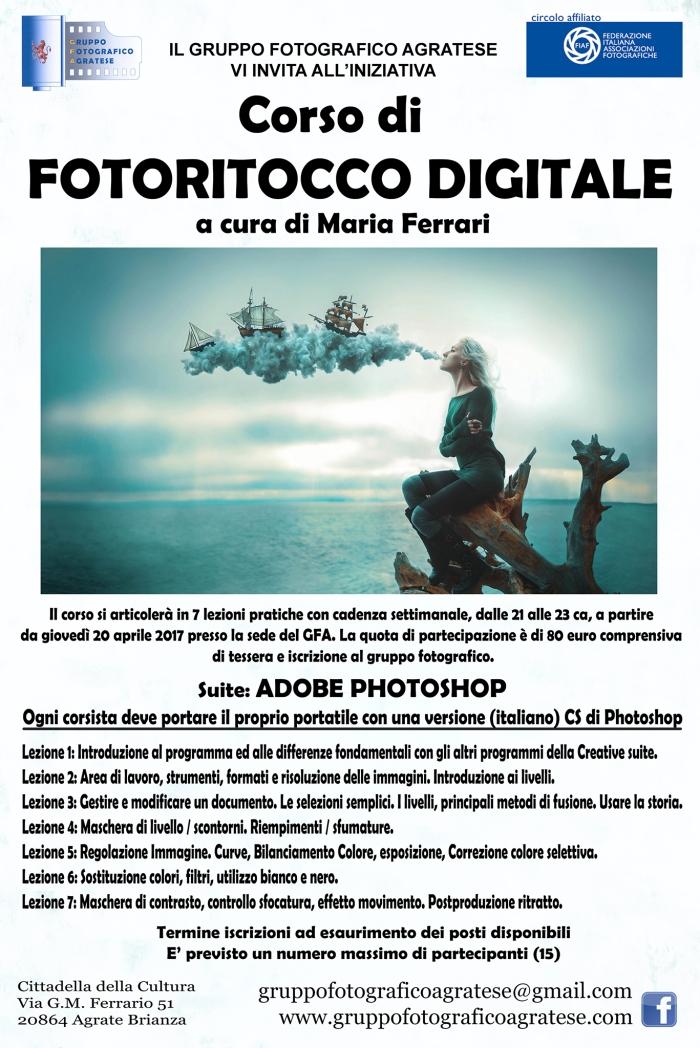 Layout Locandina corso Photoshop web