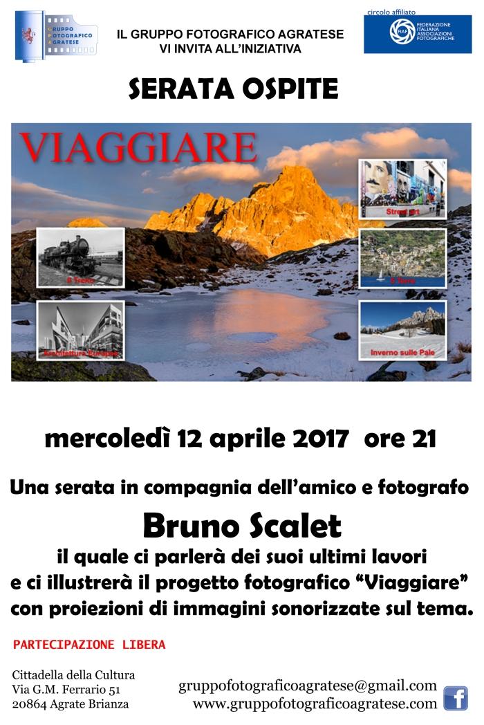 Layout Locandina serata ospite Bruno Scalet 20x30